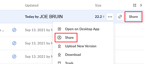 Box Share links